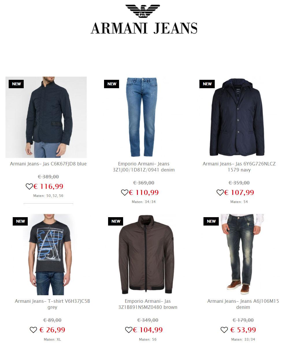 Emporio Armani / Jeans herenkleding -70% @ Maison Lab