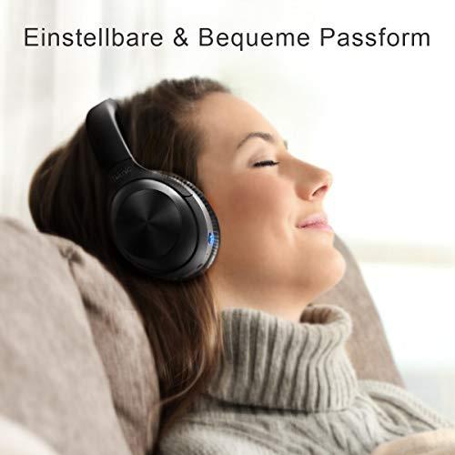 iTeknic Bluetooth koptelefoon over-ear met actieve ruisonderdrukking, opvouwbare draadloze Hi-Fi stereo