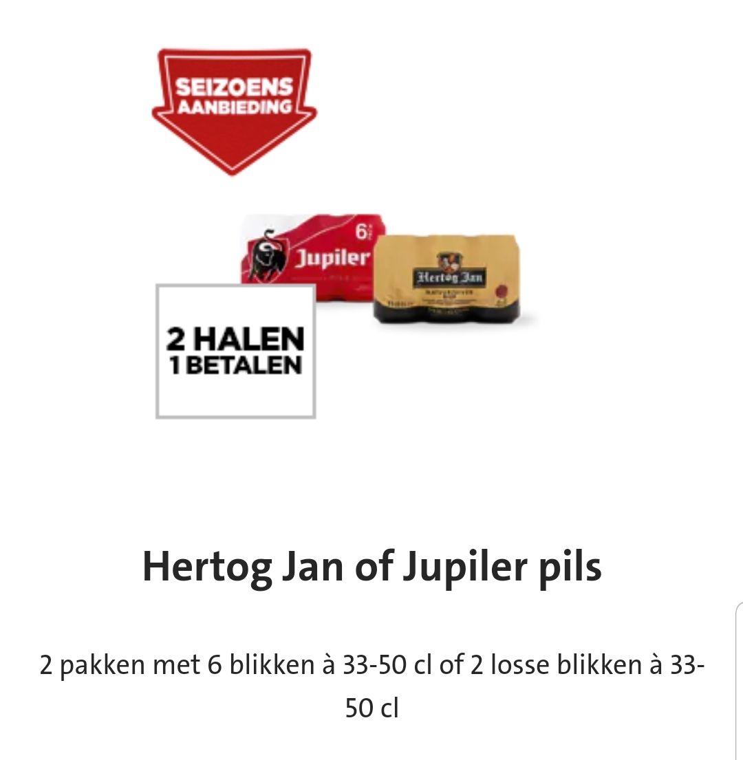 Hertog Jan of Jupiler 2 halen 1 betalen