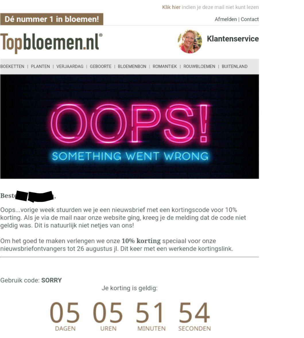 10% korting @ topbloemen.nl