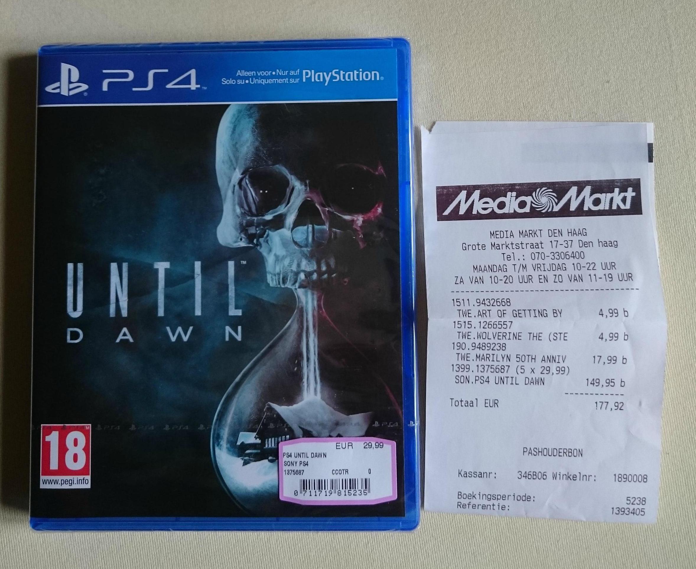 Until Dawn (PS4) voor €29,99 @ Media Markt Den Haag