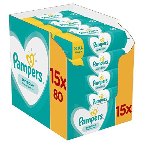 Pampers sensitive babydoekjes in grootverpakkingen (1200 stuks)