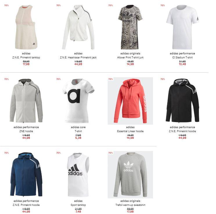 Diverse adidas (sport)kleding -70% @ Hudson's Bay