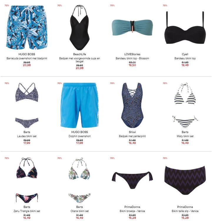 Badmode - dames / heren / kids -70% (100+ artikelen) @ Hudson's Bay