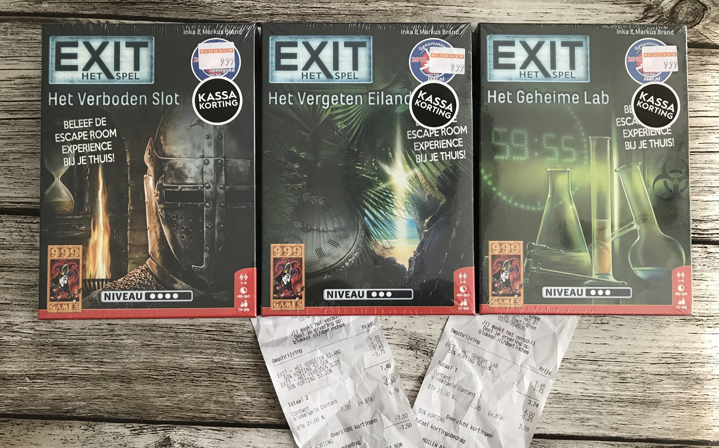Exit het spel verschillende titels. (Lokaal ?)
