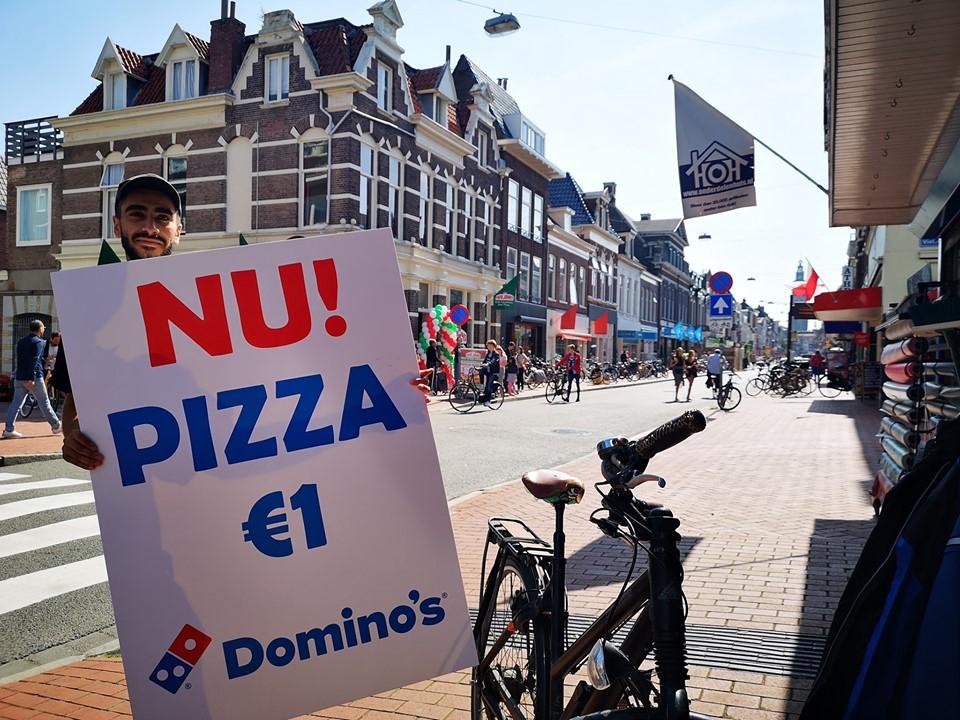 Dominos boterdiep Groningen medium pizza 1 euro