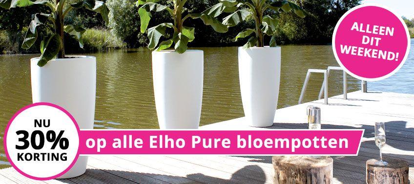 30% korting op Elho Pure bloempotten