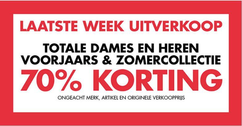 Dames & heren merken sale -70% @ Piet Zoomers