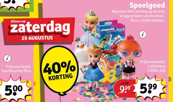 40% (extra) korting op speelgoed @ Kruidvat