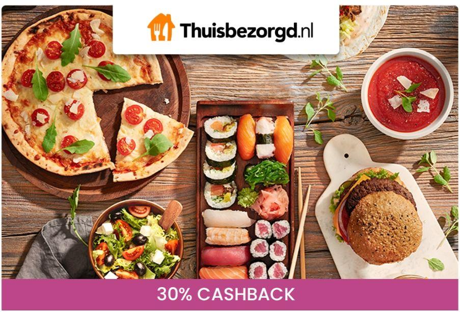 30% cashback op je eten bij Thuisbezorgd.nl via Kneakapp