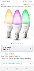 Philips hue e14 3-pack color