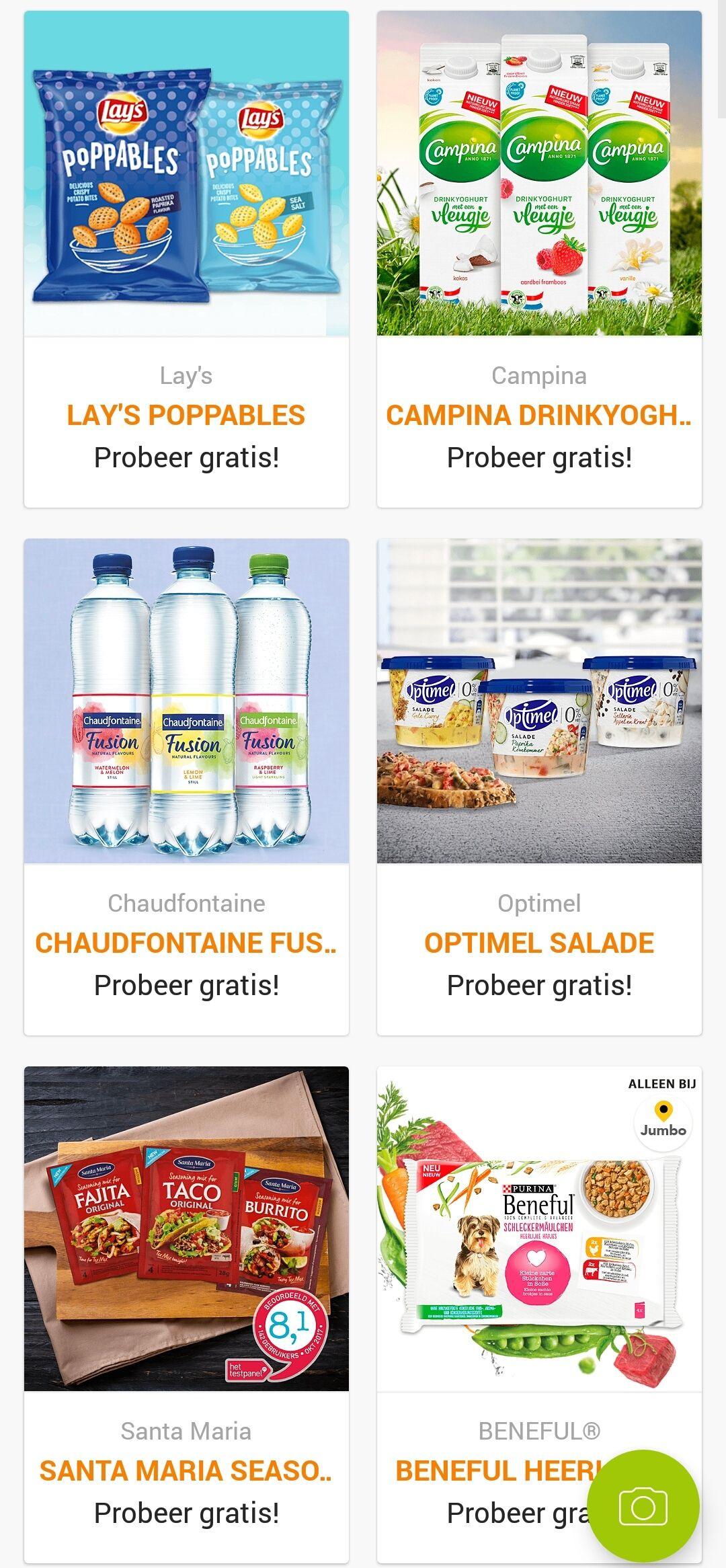 6 gratis producten op Scoupy