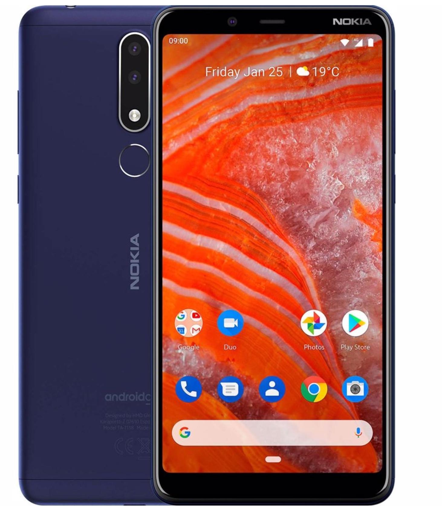 Nokia 3.1 Plus - 32 GB Dual-sim Blauw @ Mobiel.nl