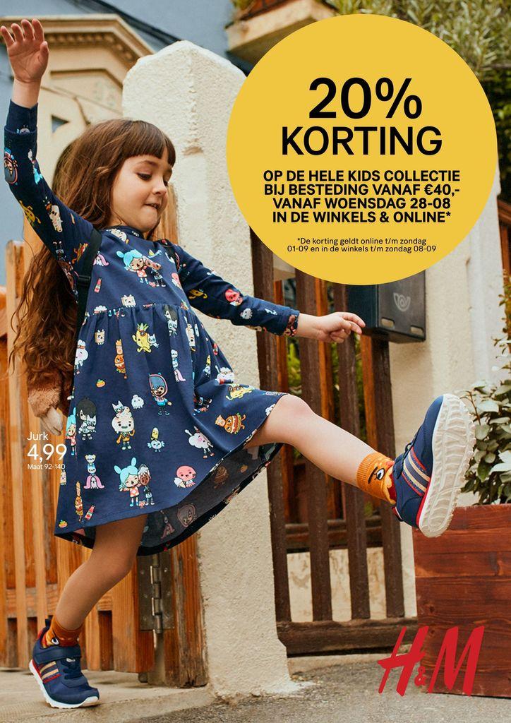 20% korting op de hele H&M kidscollectie vanaf €40