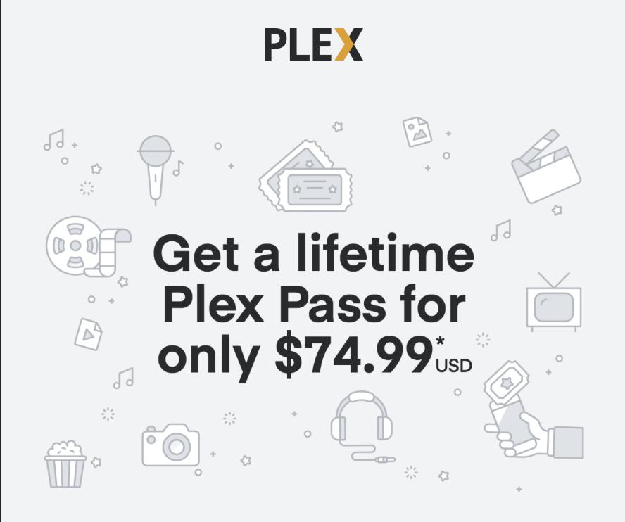Plex-pass lifetime subscription