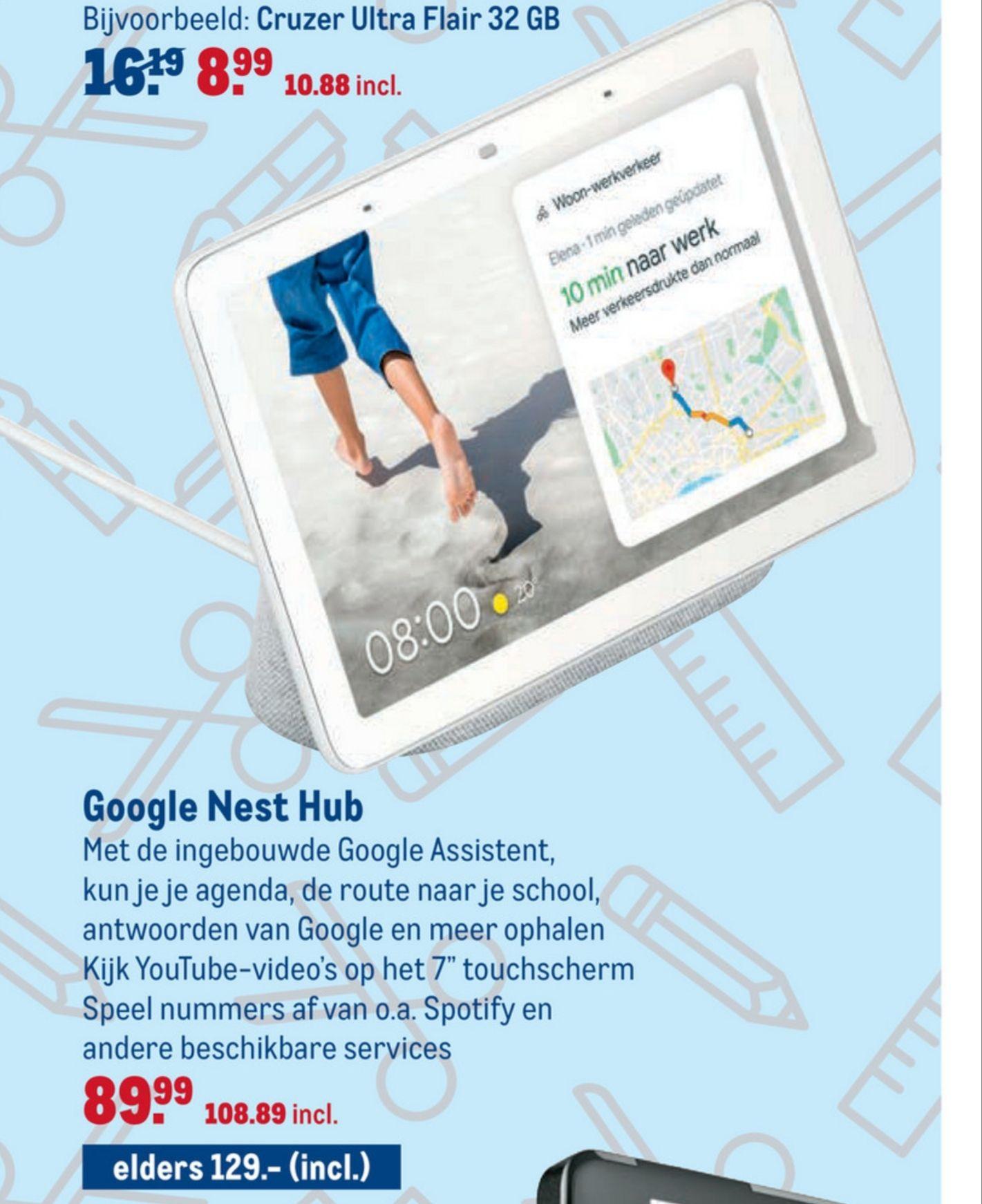 Google nest hub (€108,89incl) @ Makro