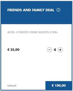 Walibi Friends and Family deal €25,- p.p. bij 4 personen