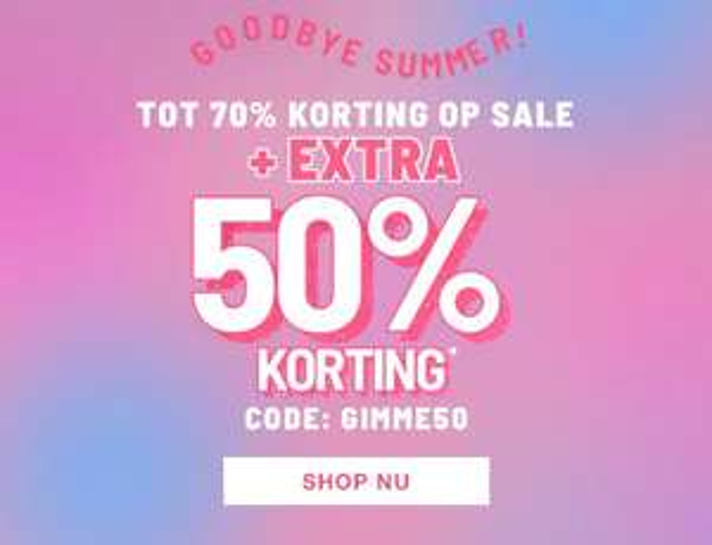 50% extra korting op de sale