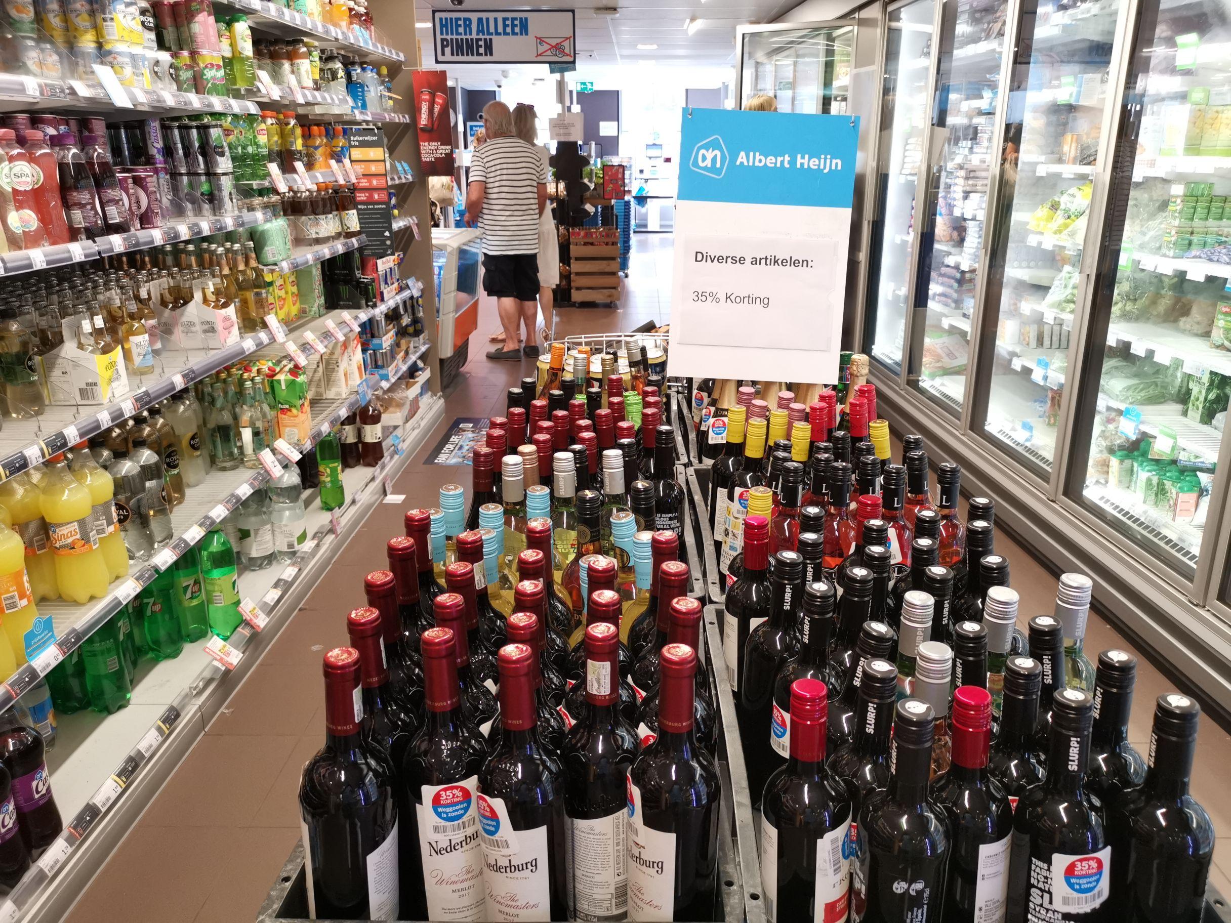 Diverse wijnen Albert Heijn