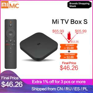 Xiaomi Mi Box S voor €48,20 @ AliExpress