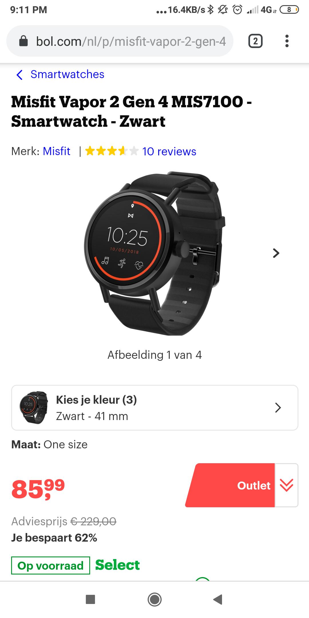 Misfit Vapor 2 Gen 4 MIS7100 - Smartwatch
