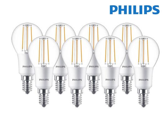 Philips Filament LED-lamp kogel E14 5W dimbaar (8 stuks) @ iBOOD
