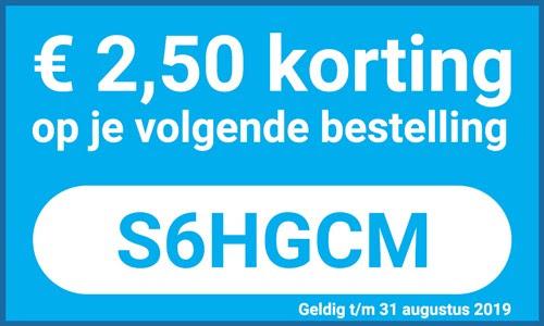 €2,50 korting door code (geen minimale besteding) @ GSMpunt