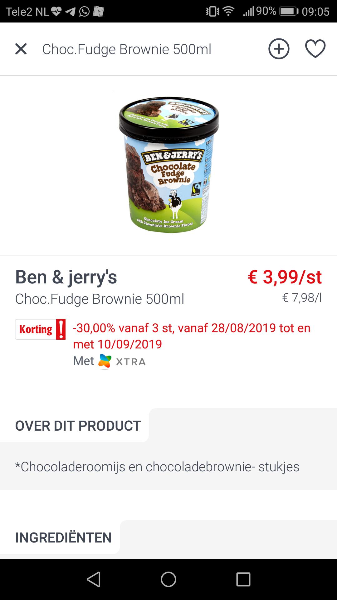 [Grensdeal België] Ben&Jerry's €2,79 per pot