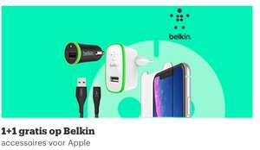 1+1 gratis Belkin product bij bol:) Bijvoorbeeld deze Belkin Universele Telefoonhouder