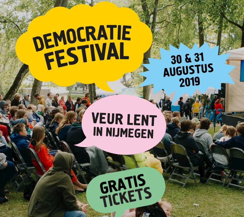 Gratis Kaarten het Democratiefestival Nijmegen