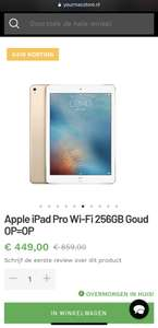 Apple iPad Pro Wi-Fi 256GB Goud OP=OP