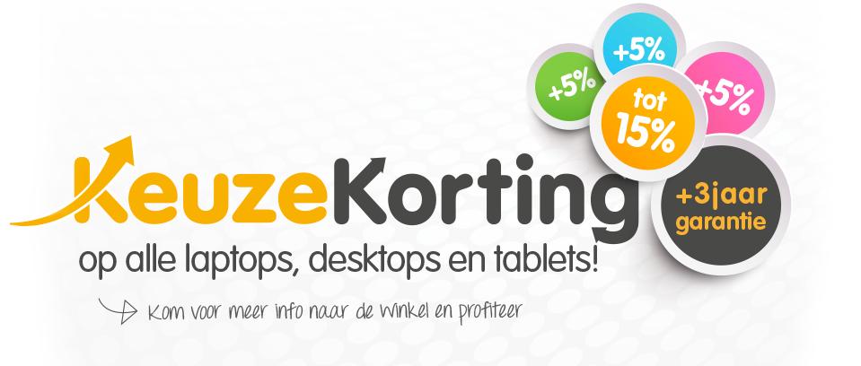 15% korting laptops, desktops, tablets @MyCom