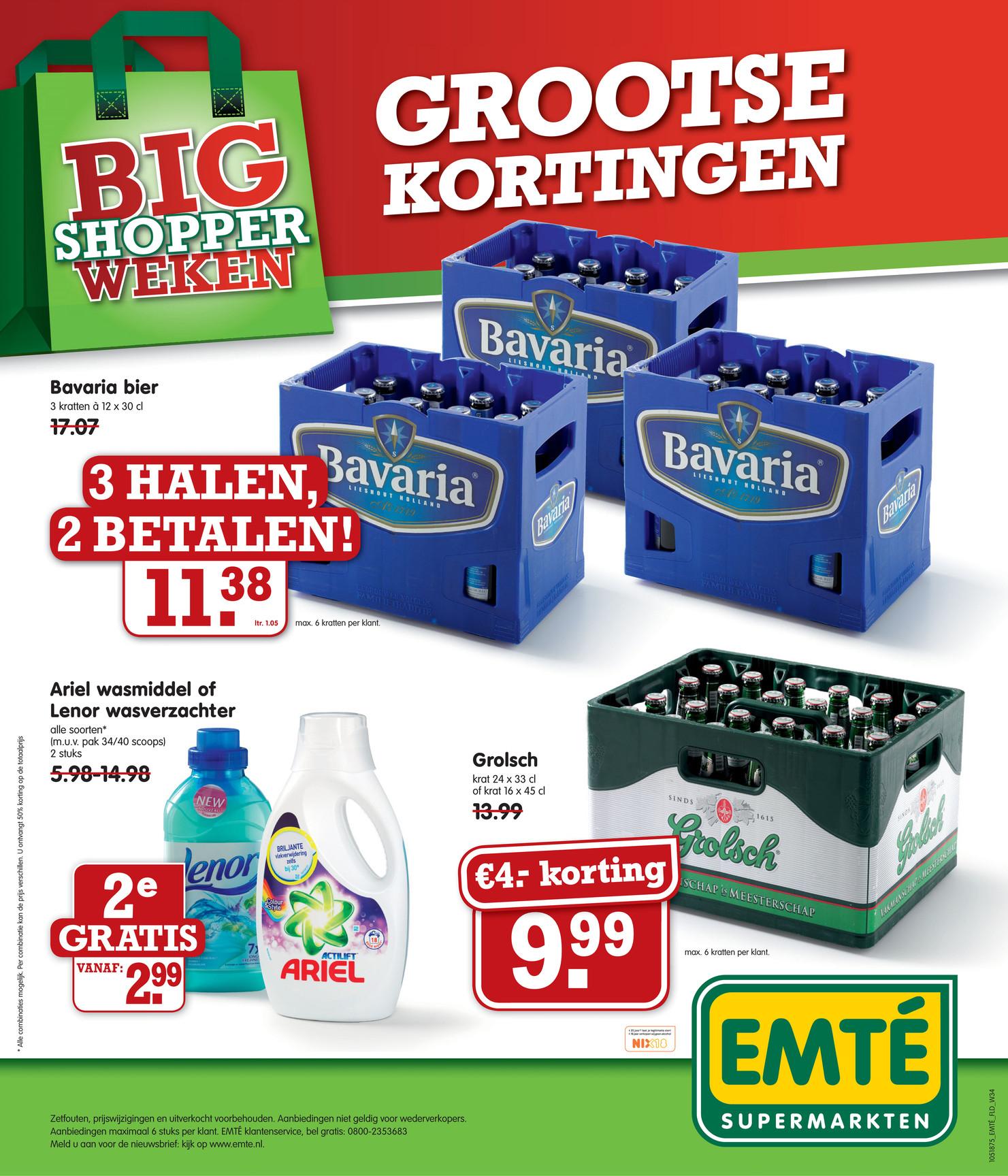 3 kratten Bavaria voor € 11,38 @ Emté