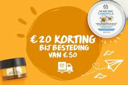 Met code €20 korting (va €50) @ The Body Shop