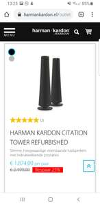 Harman Kardon towers 25% korting