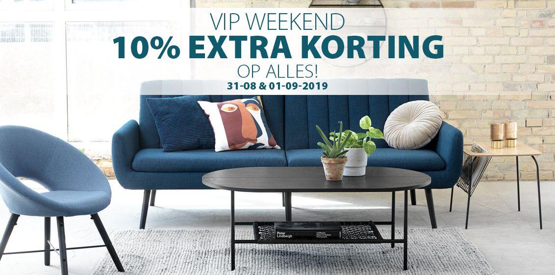 VIP Weekend 10% korting op alles dit weekend @ jysk