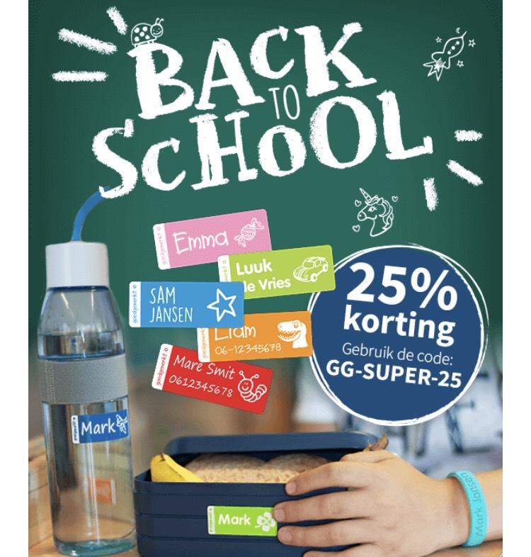 Back-to-school: 25% korting bij goedgemerkt.nl (hoogste korting ooit)