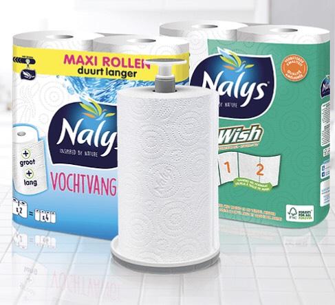 Gratis keukenrolhouder bij aankoop Nalys vochtvangers @ Scoupy
