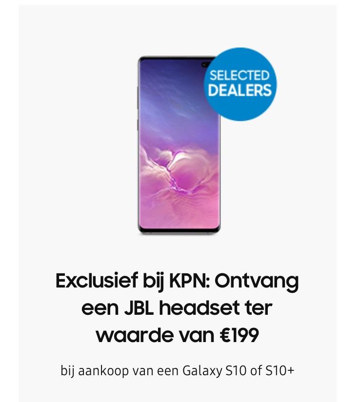 JBL headset twv €199 bij de Samsung S10 via KPN