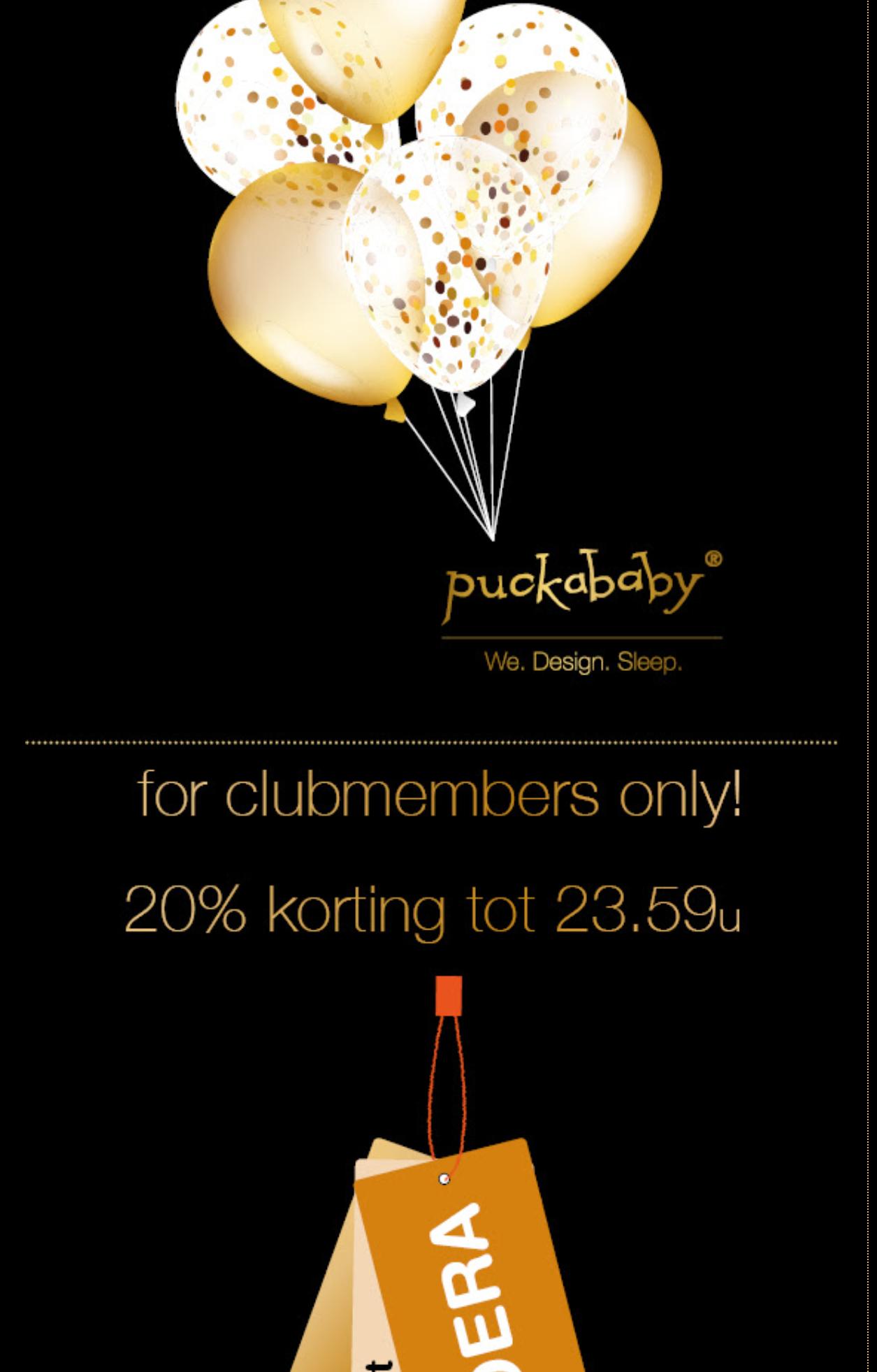 Puckababy 20% korting