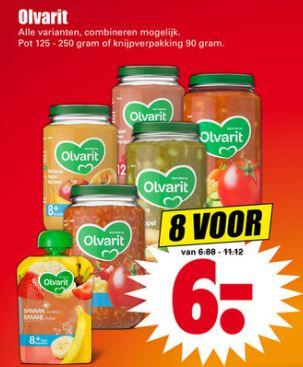 Olvarit: 8 potjes voor €6 @ Dirk