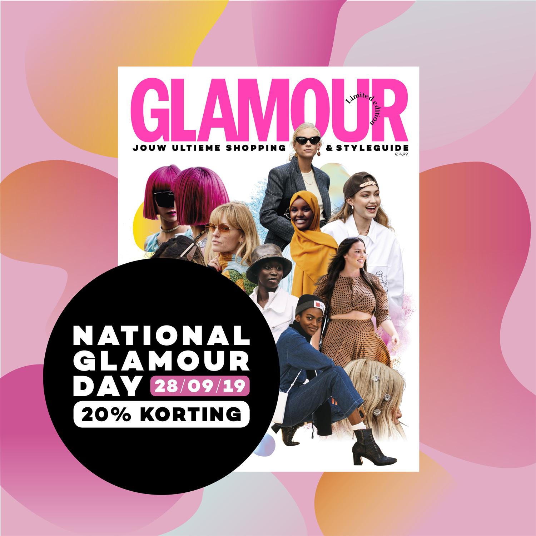 Zaterdag 28 september: National Glamour Day!