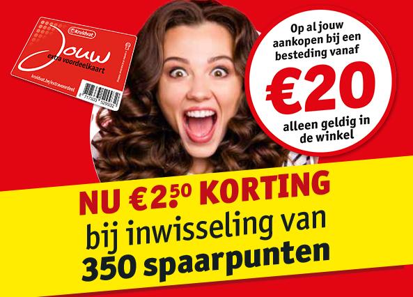 €2,50 euro korting bij inwisselen 350 spaarpunten @kruidvat.nl