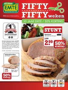 Veel met 50% korting @ Emté (o.a. Wagner Big Pizza €1,12 en Pepsi/sissi/7up 4-pack €2,99)