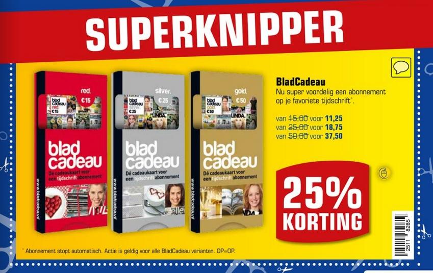 Bladcadeau 25 % korting @ Primera