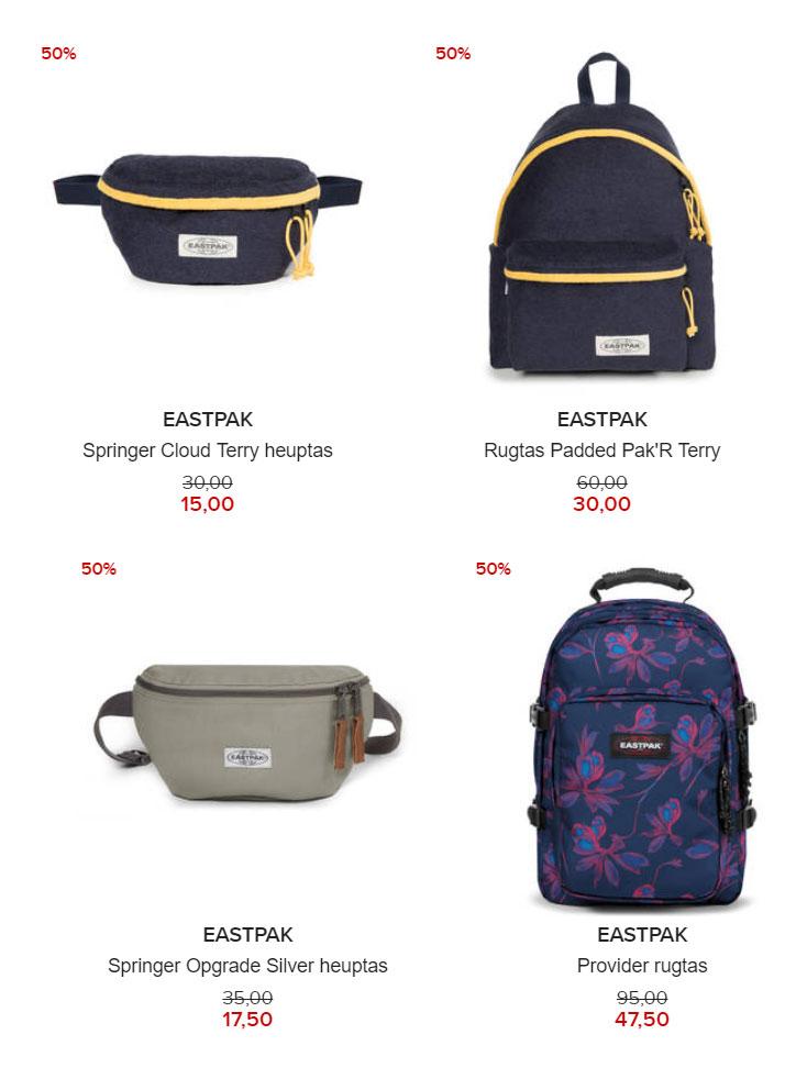 Eastpak tassen -50% (4 modellen) @ Hudson's Bay
