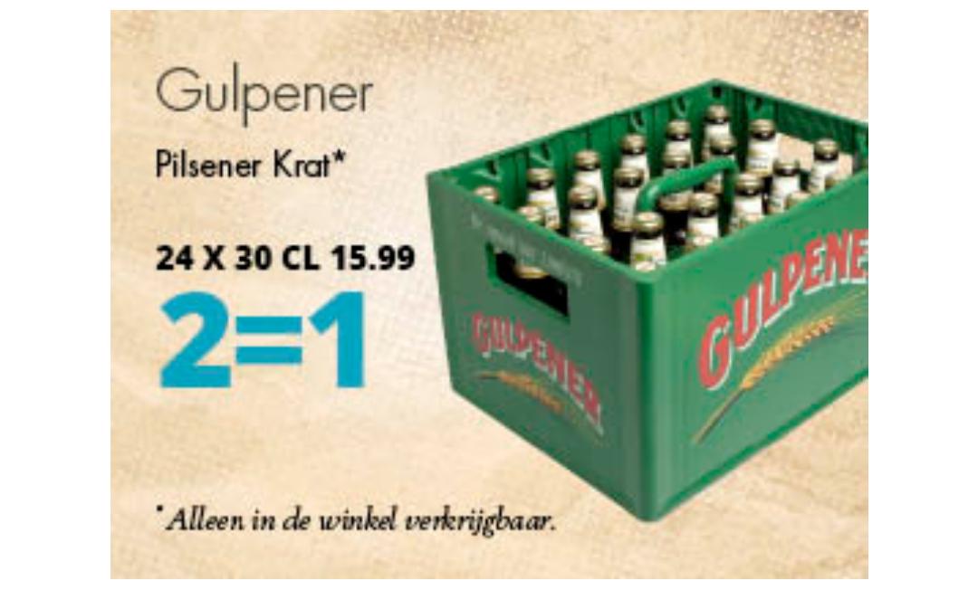 Gulpener 2 kratjes voor de prijs van 1 en 4=3 op speciaalbier @Mitra