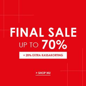 Tot 70% + 20% extra korting op sale @Jeans Centre