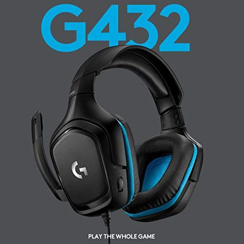 Logitech G432 7.1 Surround Sound Wired Gaming @ Amazon.de
