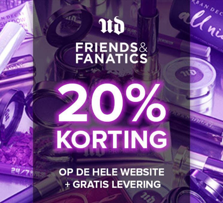 Actie: 20% korting + gratis verzending t.w.v. €5 @ Urban Decay